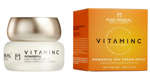 Pure Mineral - Vitamin C - Powerful Day Cream SPF-15 - deadseashop.co.uk