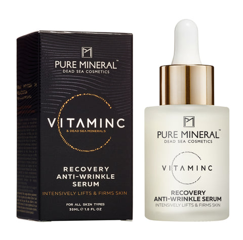 Pure Mineral - Vitamin C - Recovery Anti-Wrinkle Serum - deadseashop.co.uk
