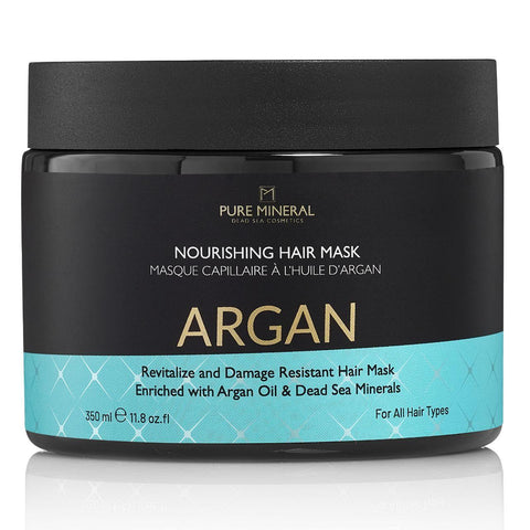 Pure Mineral Argan hair mask - deadseashop.co.uk
