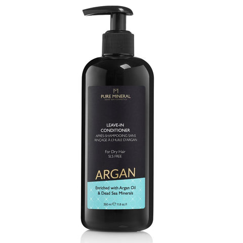 Pure Mineral Argan Leave-in Conditioner For Dry Hair - deadseashop.co.uk