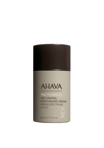 AHAVA - Men's Age Control Moisturizing Cream Broad Spectrum SPF 15 - DeadSeaShop.co.uk