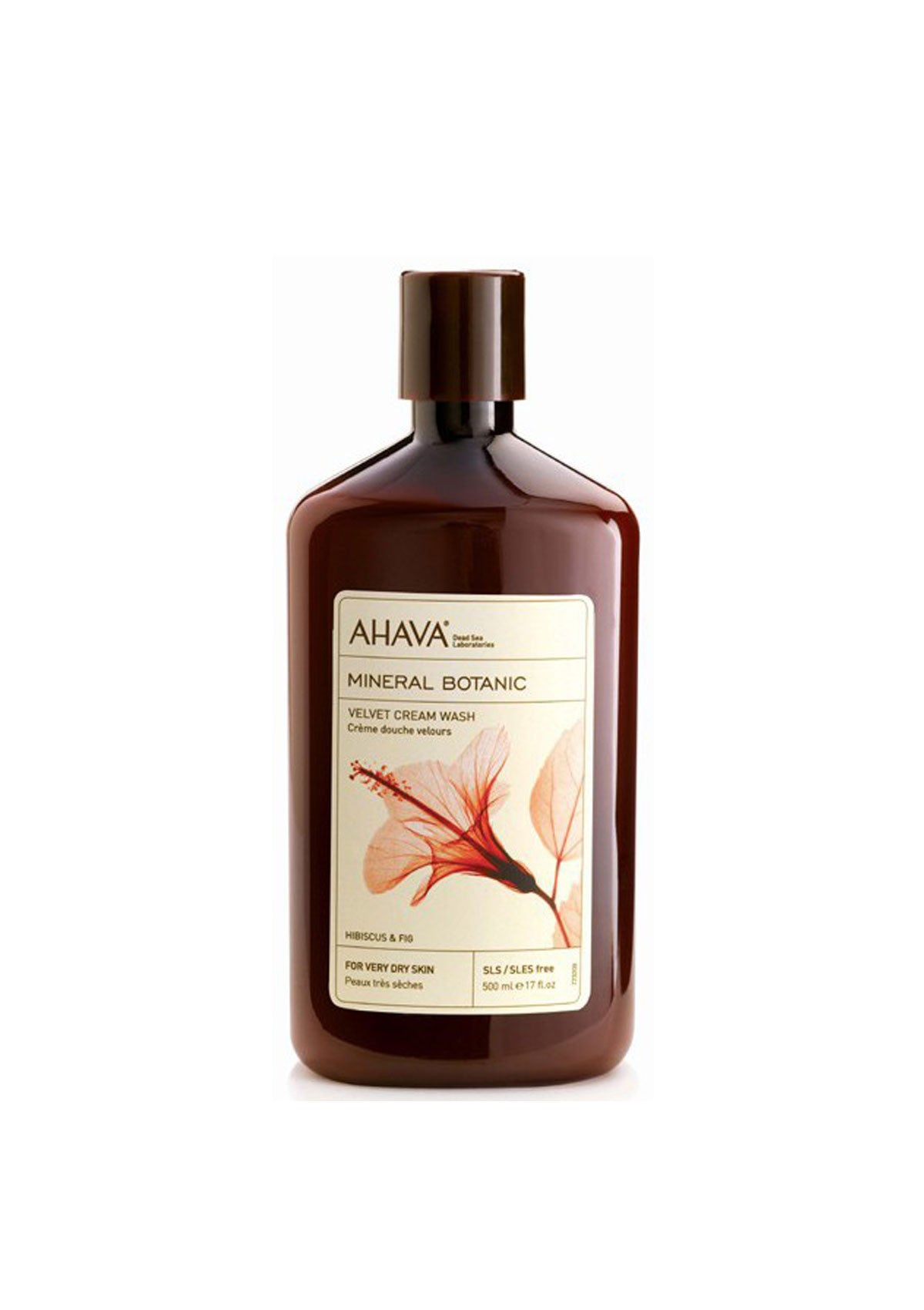 AHAVA - Mineral Botanic Cream Wash - Hibiscus & Fig - DeadSeaShop.co.uk