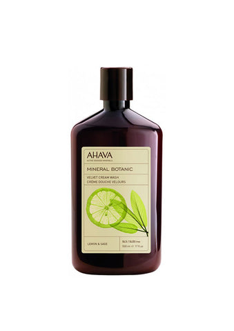 AHAVA - Mineral Botanic Cream Wash - Lemon & Sage - DeadSeaShop.co.uk