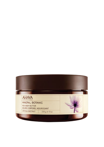 AHAVA - Mineral Botanic Body Butter - Lotus & Chestnut - DeadSeaShop.co.uk