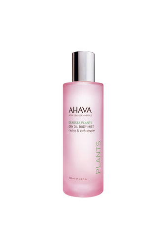 AHAVA - Dry Oil Body Mist - Cactus & Pink Pepper - DeadSeaShop.co.uk