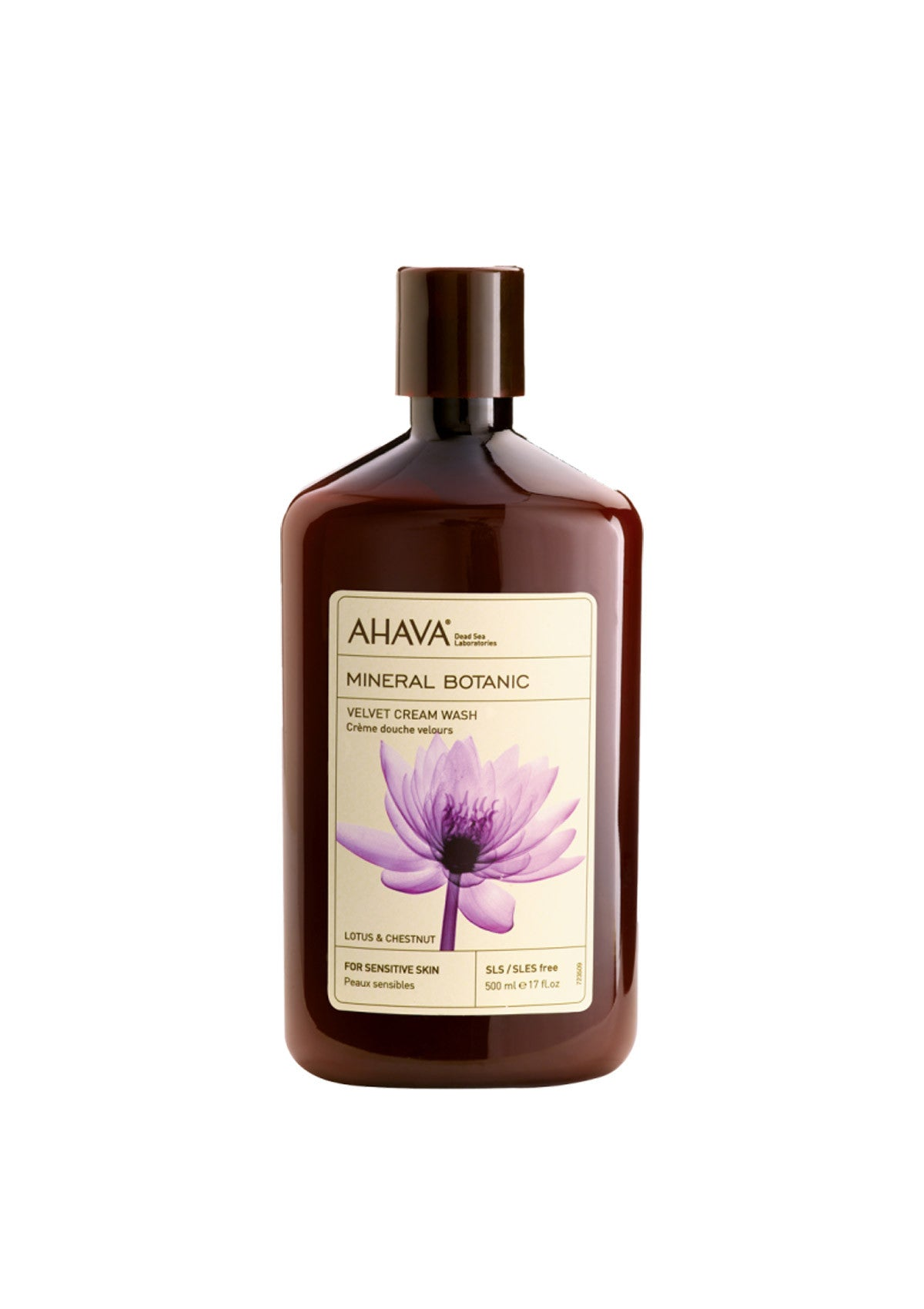 AHAVA - Mineral Botanic Cream Wash - Lotus & Chestnut - DeadSeaShop.co.uk