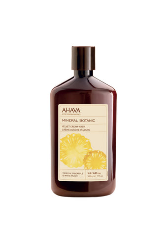 AHAVA - Mineral Botanic Cream Wash - Pineapple & Peach - DeadSeaShop.co.uk