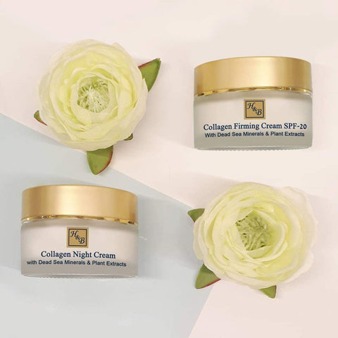 Health & Beauty - 1+1 SET - Collagen Day & Night Cream SPF-20 - DeadSeaShop.co.uk
