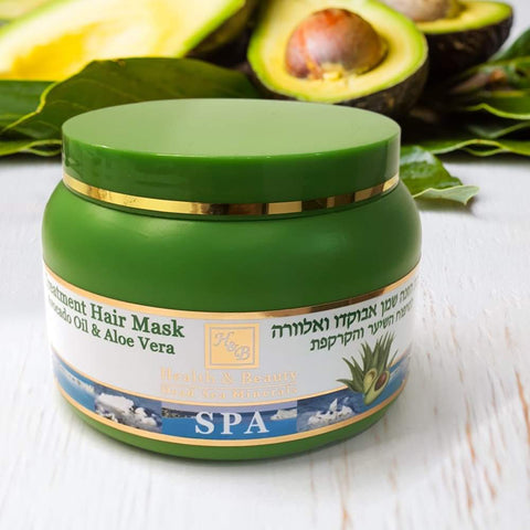 Health & Beauty - Treatment Hair Mask Avocado Oil & Aloe Vera - DeadSeaShop.co.uk