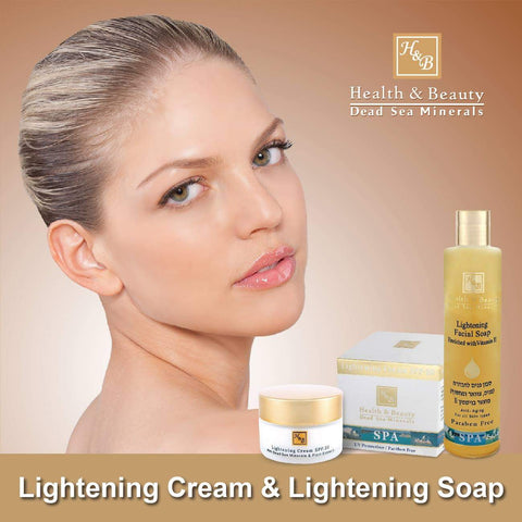 Health & Beauty - 1+1 SET - Lightening Cream & Lightening Soap - DeadSeaShop.co.uk