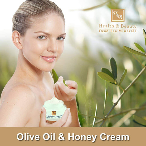 Health & Beauty - Olive Oil & Honey Cream SPF-20 - DeadSeaShop.co.uk