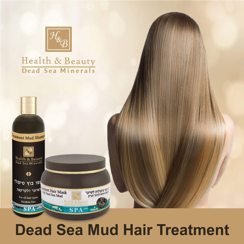 Health & Beauty - 1+1 SET - Dead Sea Mud Hair Treatment - DeadSeaShop.co.uk