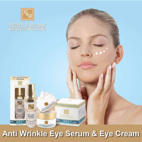 Health & Beauty - 1+1 SET - Anti Wrinkle Eye Serum & Eye Cream - DeadSeaShop.co.uk