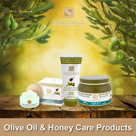 Health & Beauty - 2+1 SET - Olive Oil & Honey Care Products - DeadSeaShop.co.uk
