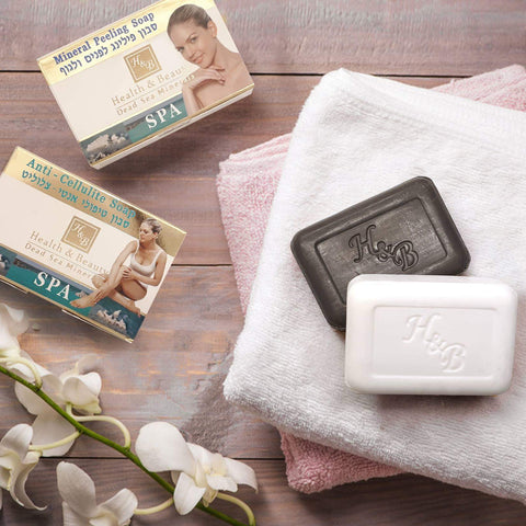 Health & Beauty - 1+1 SET - Mineral Peeling & Anti Cellulite Soap - DeadSeaShop.co.uk