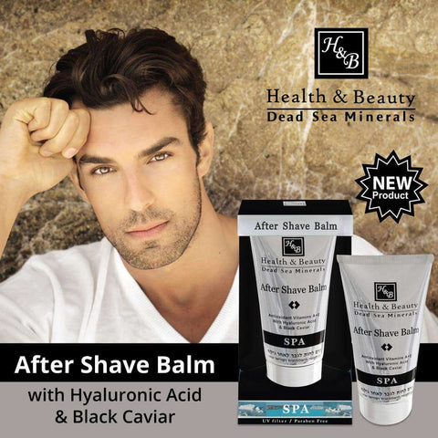 Health & Beauty - After Shave Balm with Hyaluronic Acid & Black Caviar - DeadSeaShop.co.uk