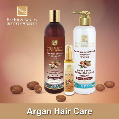 Health & Beauty - Argan Hair Care 2+1 SET - DeadSeaShop.co.uk