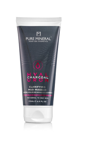 Pure Mineral Charcoal Clarifying Mud Masque - For Normal to Oily Skin - deadseashop.co.uk
