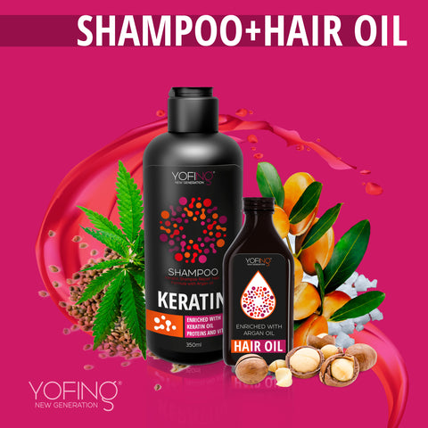 YOFING - Keratin Hair Set - 1+1 - DeadSeaShop.co.uk