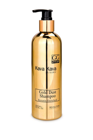 Kava Kava - Gold Dust Shampoo - Keratin Shampoo - DeadSeaShop.co.uk