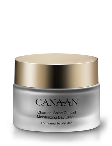 Canaan Charcoal Shine Control Moisturizing Day Cream - deadseashop.co.uk