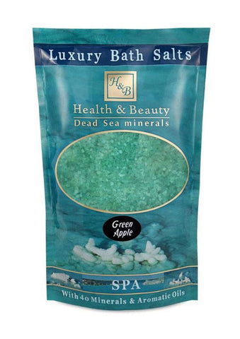 Health & Beauty - Luxury Bath Salts Green Apple - DeadSeaShop.co.uk