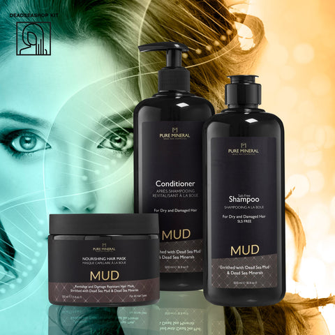 "Mud Shampoo & Conditioner + <strong><span style=""color: #ff2a00;""><big>1 FREE</big></strong> Mud Mask"