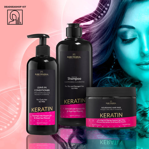 "Shampoo & Leave-In Conditioner + <strong><span style=""color: #ff2a00;""><big>1 FREE</big></strong> Keratin Mask"