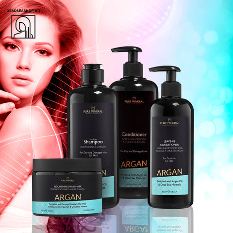 "Argan Shampoo & Conditioner + <strong><span style=""color: #ff2a00;""><big>2 FREE</big></strong> Leave-In Conditioner & Mask"