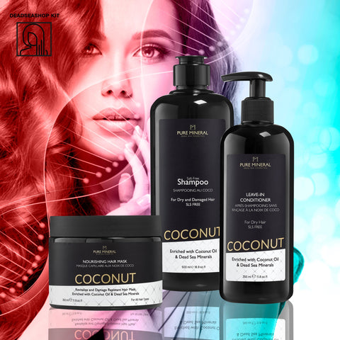 "Coconut Shampoo + <strong><span style=""color: #ff2a00;""><big>2 FREE</big></strong> Leave-In Conditioner & Mask"
