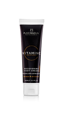 Pure Mineral Vitamin C -  Foot Cream - deadseashop.co.uk