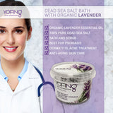 YOFING - Dead Sea Salt Bath with Organic Lavender - DeadSeaShop.co.uk