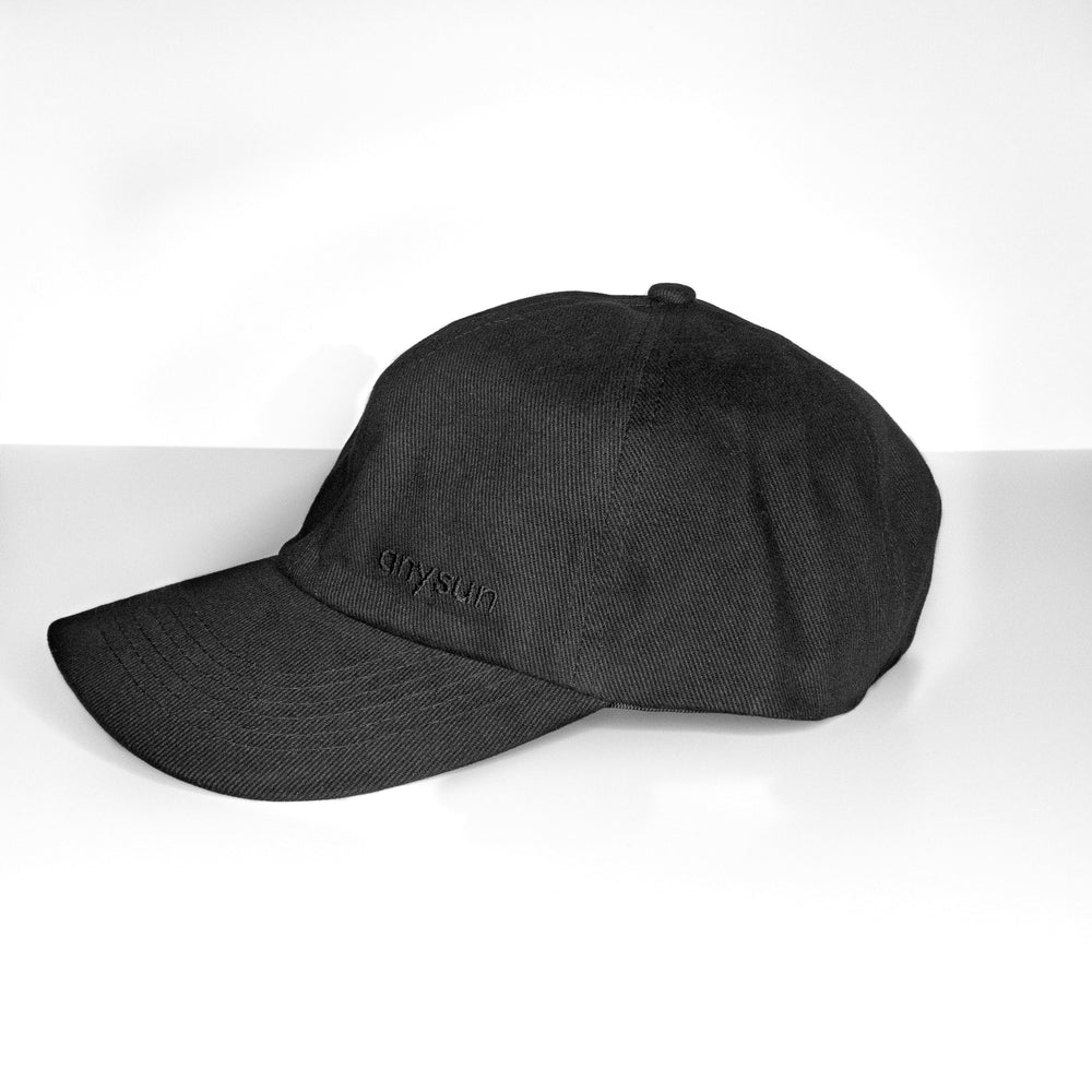 Black Silk Lined Baseball Cap - anysun