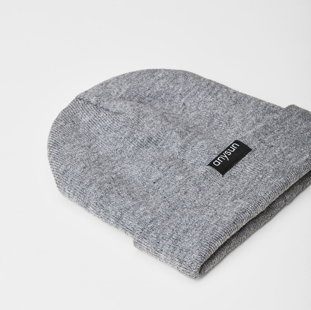 Gray Satin-Lined Beanie - anysun