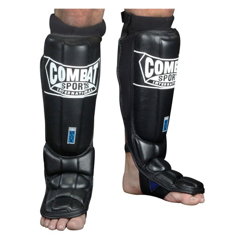 COMBAT SPORTS GEL SHOCK PRO STYLE GRAPPLING SHIN GUARDS