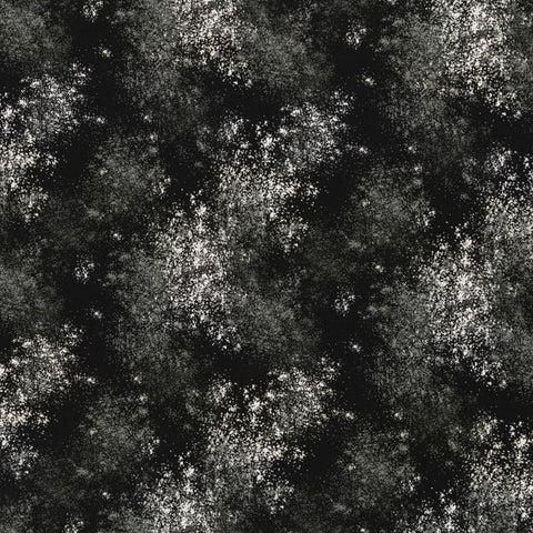 Euro Quilting - Splatter, Black
