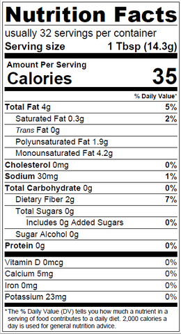 Original Pablo Kim's chimichurri Nutrition Facts