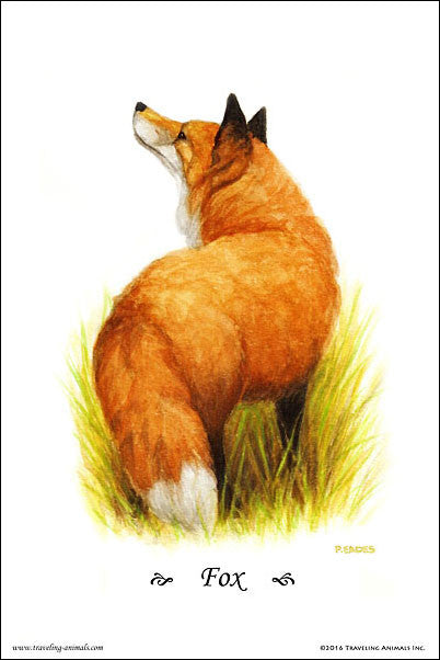 Traveling Animals Poster - Fox