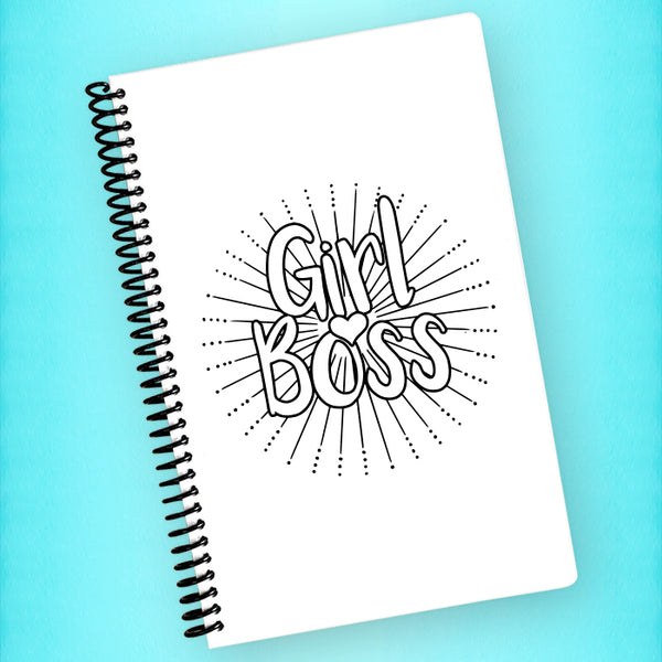 Girl Boss Spiral Notebook - Blush Buffalo