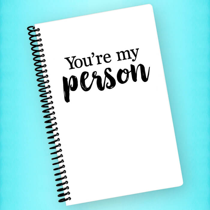 You're my Person Spiral Notebook - Blush Buffalo