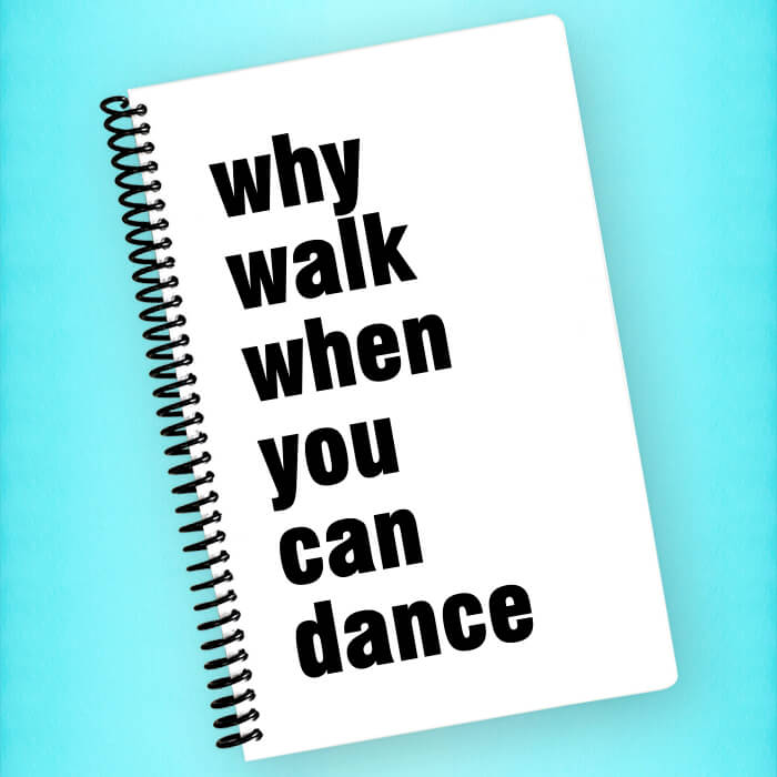 Why Walk, Dance Spiral Notebook - Blush Buffalo