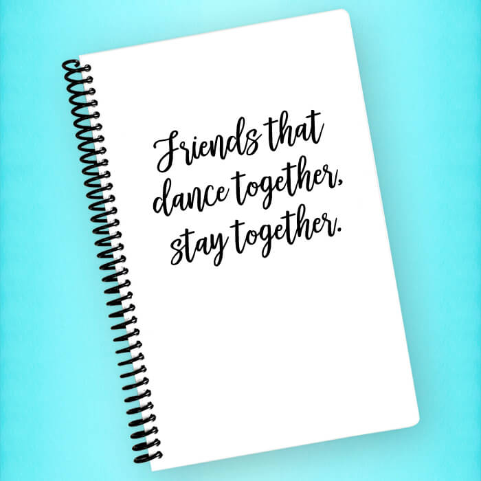 Friends that Dance Together Spiral Notebook - Blush Buffalo
