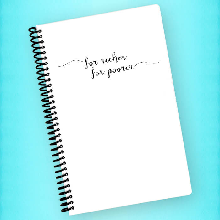 For Richer For Poorer Spiral Notebook - Blush Buffalo
