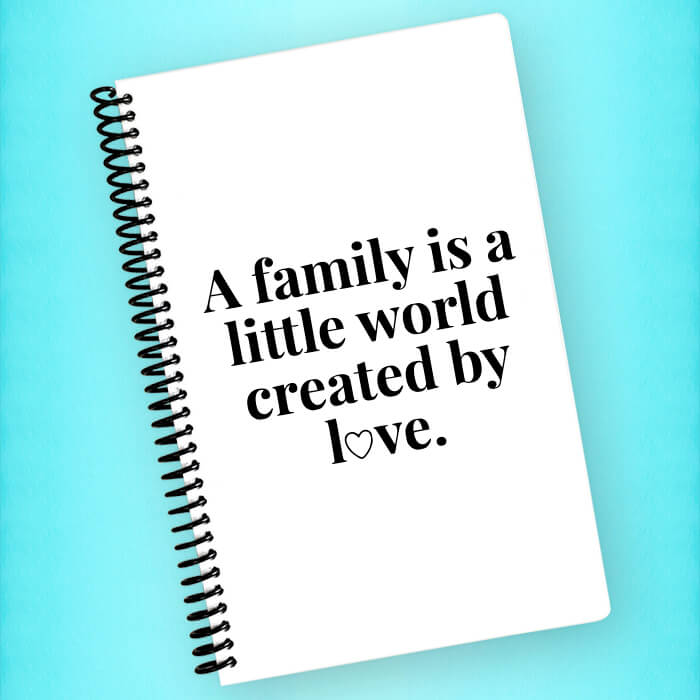 Family Created By Love Spiral Notebook - Blush Buffalo