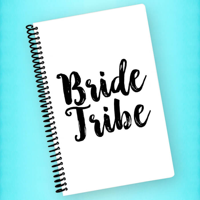 Bride Tribe Spiral Notebook - Blush Buffalo