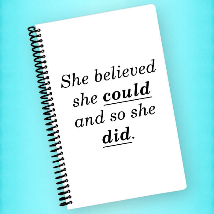 She Believed She Could Spiral Notebook - Blush Buffalo
