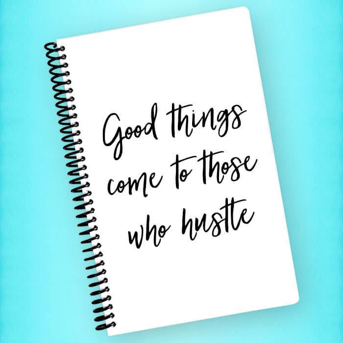 Good Things Hustle Spiral Notebook - Blush Buffalo