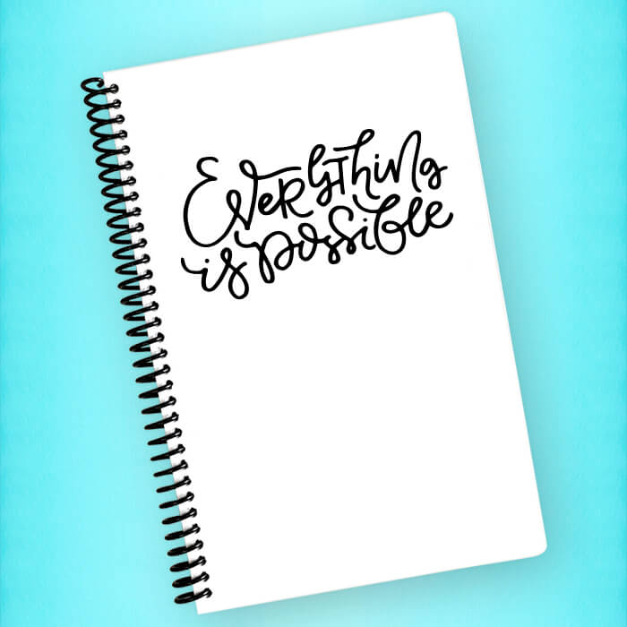 Everything is Possible Spiral Notebook - Blush Buffalo