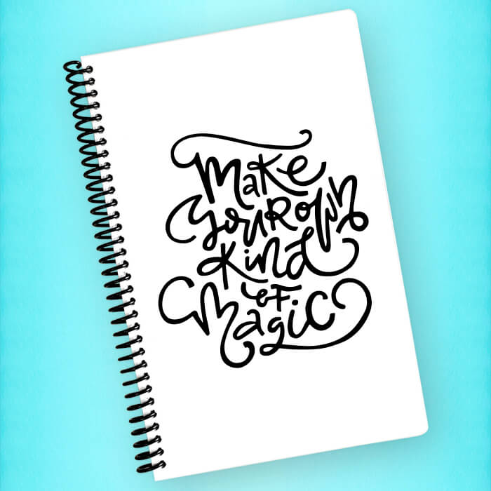 Make Your Own Magic Spiral Notebook - Blush Buffalo