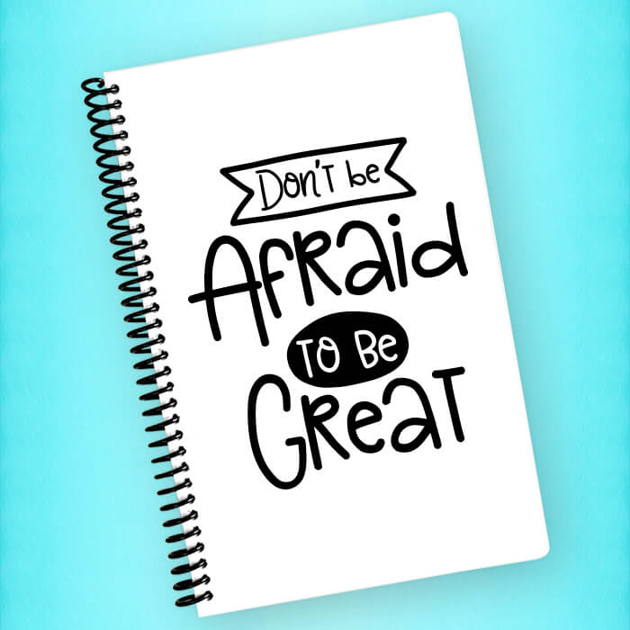 Don't be Afraid to be Great Spiral Notebook - Blush Buffalo